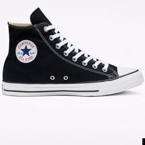 Black and white Chuck Taylor converse high top